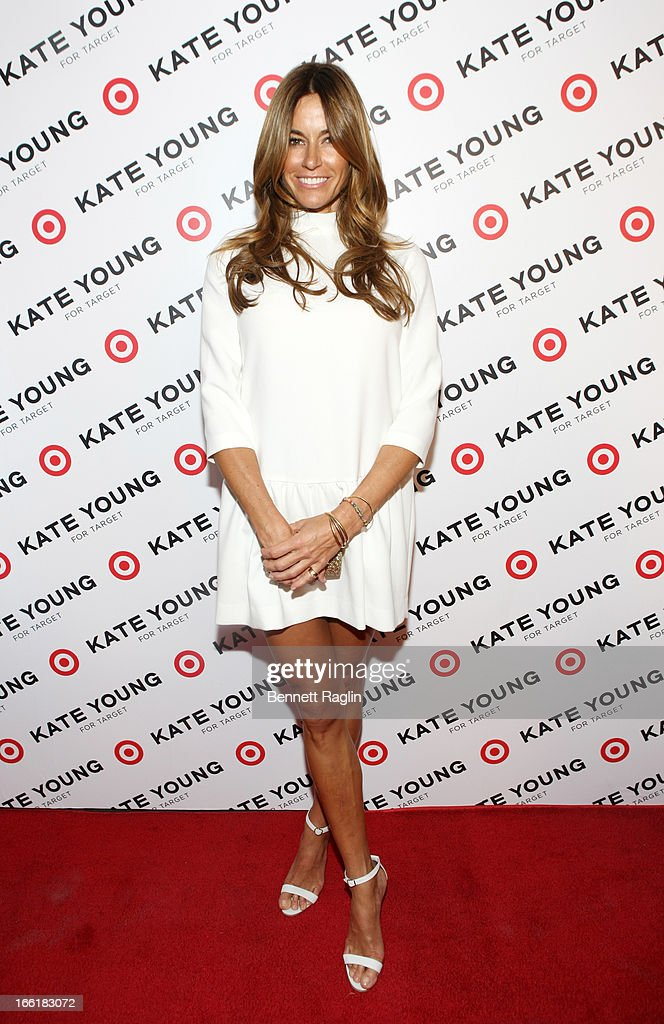 TV personality Kelly Bensimon attends the Kate Young For Target Launch at The Old School NYC on April 9, 2013 in New York City.