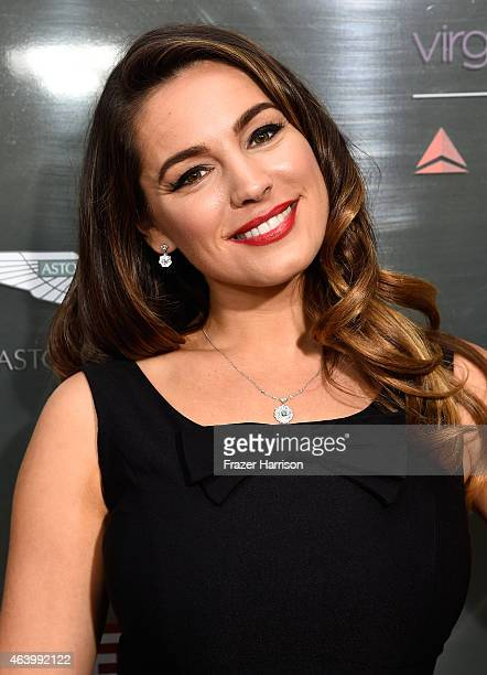 TV personality Kelly Brook attends the GREAT British film reception honoring the British nominees of the 87th Annual Academy Awards at The London...