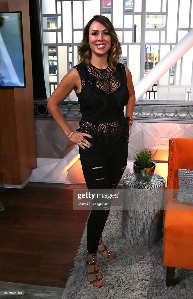 TV personality Kelly Dodd visits Hollywood Today Live at W Hollywood on August 29 2016 in Hollywood California