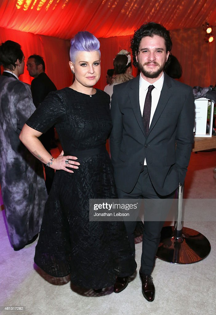 TV personality Kelly Osbourne and actor Kit Harington attend the 8th Annual HEAVEN Gala presented by Art of Elysium and Samsung Galaxy at Hangar 8 on...