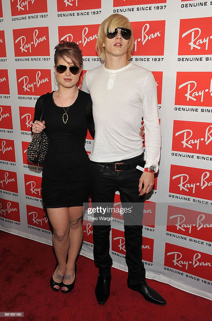 TV Personality Kelly Osbourne and Luke Worrall attend the Ray-Ban Aviator: The Essentials Event featuring Iggy Pop at Music Hall of Williamsburg on May 12, 2010 in New York City.