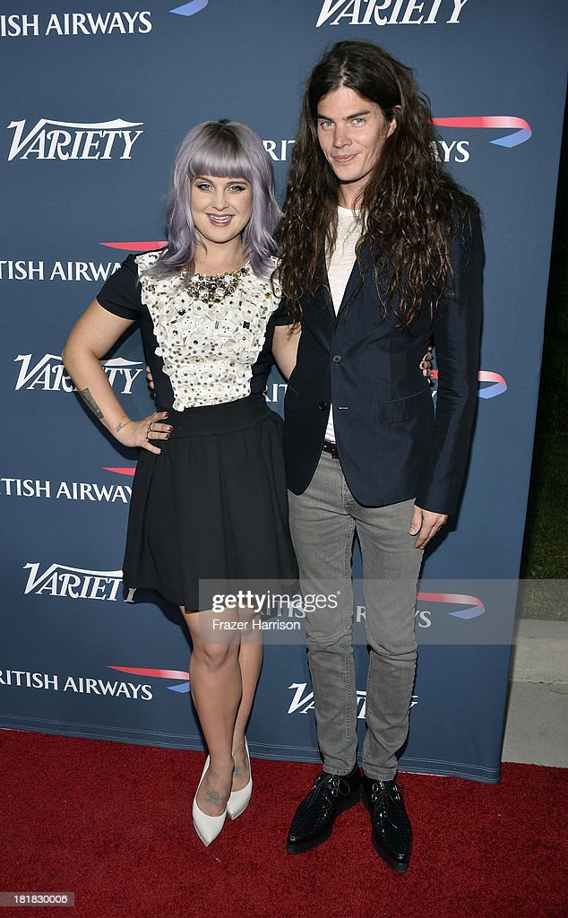 TV personality <a gi-track='captionPersonalityLinkClicked' href=/galleries/search?phrase=Kelly+Osbourne&family=editorial&specificpeople=156416 ng-click='$event.stopPropagation()'>Kelly Osbourne</a> and Matthew Mosshart attend British Airways and Variety Celebrate The Inaugural A380 Service Direct from Los Angeles to London and Discover Variety's 10 Brits to Watch on September 25, 2013 in Los Angeles, California.