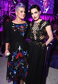 TV personality Kelly Osbourne and performer Dita Von Teese attend the 23rd Annual Elton John AIDS Foundation Academy Awards Viewing Party on February...