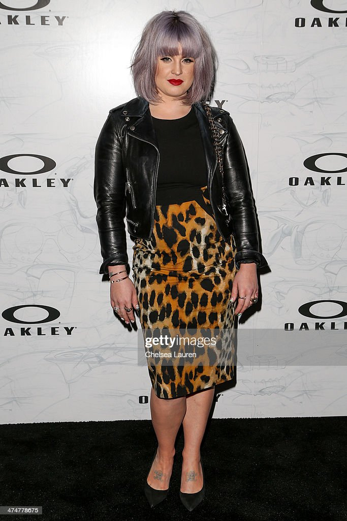 TV personality <a gi-track='captionPersonalityLinkClicked' href=/galleries/search?phrase=Kelly+Osbourne&family=editorial&specificpeople=156416 ng-click='$event.stopPropagation()'>Kelly Osbourne</a> arrives at Oakley's Disruptive by Design at Red Studios on February 24, 2014 in Los Angeles, California.