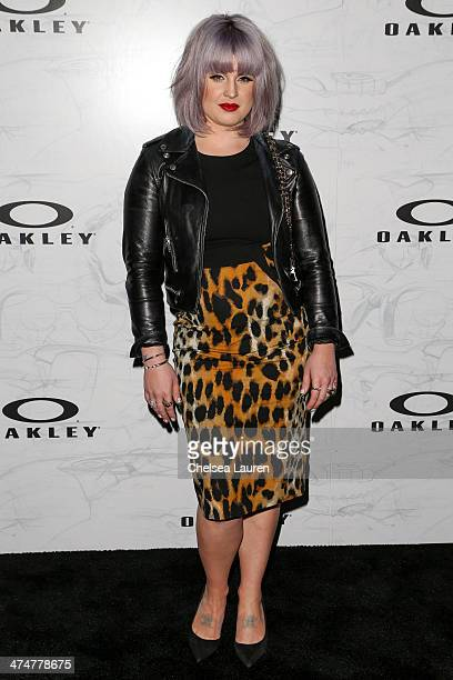 TV personality Kelly Osbourne arrives at Oakley's Disruptive by Design at Red Studios on February 24 2014 in Los Angeles California