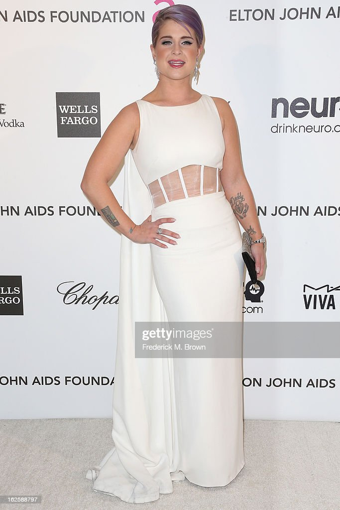 TV personality Kelly Osbourne arrives at the 21st Annual Elton John AIDS Foundation's Oscar Viewing Party on February 24, 2013 in Los Angeles, California.