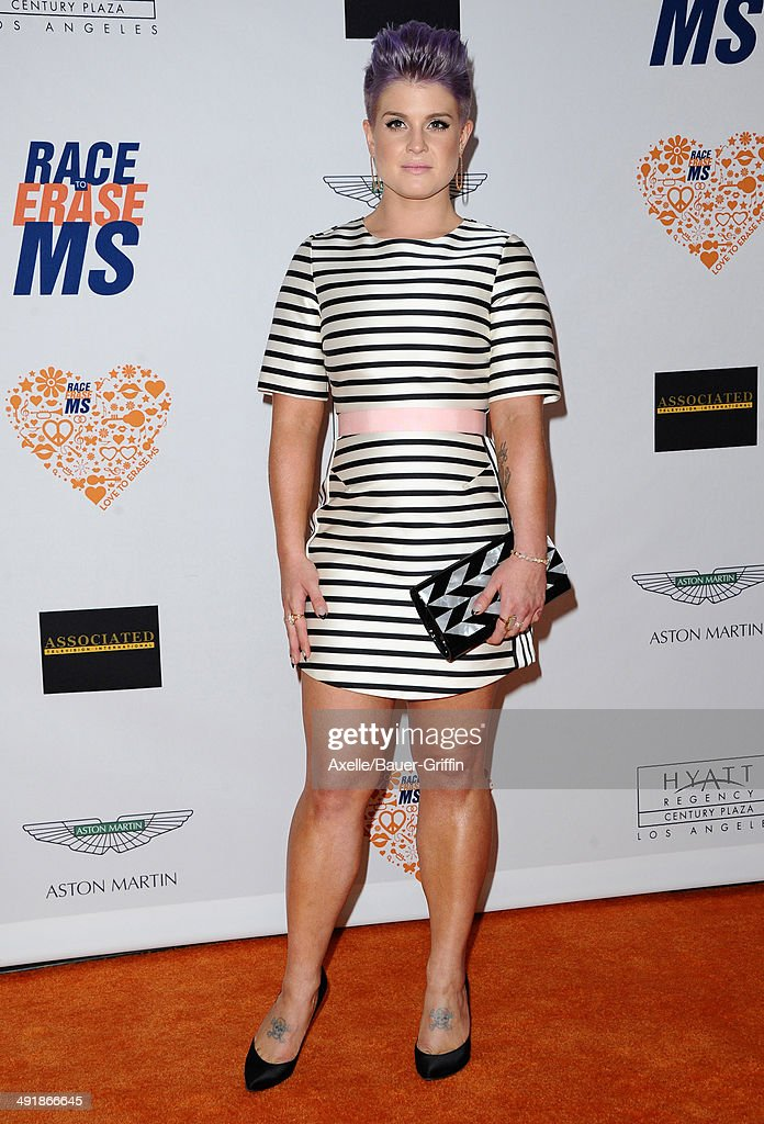 TV personality Kelly Osbourne arrives at the 21st Annual Race To Erase MS Gala at the Hyatt Regency Century Plaza on May 2, 2014 in Century City, California.