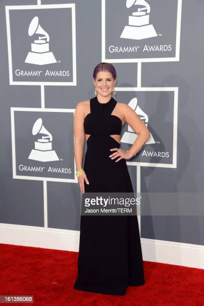 TV personality Kelly Osbourne arrives at the 55th Annual GRAMMY Awards at Staples Center on February 10 2013 in Los Angeles California
