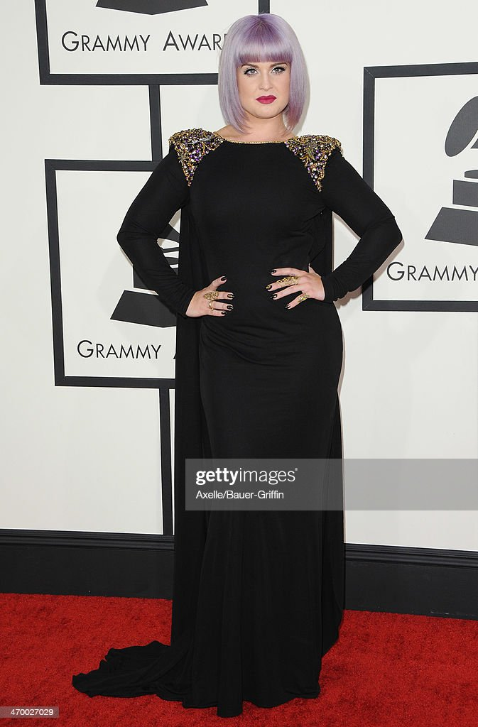 TV personality Kelly Osbourne arrives at the 56th GRAMMY Awards at Staples Center on January 26, 2014 in Los Angeles, California.