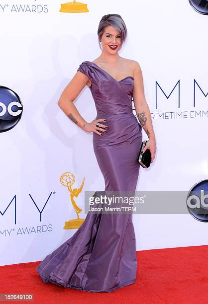TV personality Kelly Osbourne arrives at the 64th Primetime Emmy Awards at Nokia Theatre LA Live on September 23 2012 in Los Angeles California