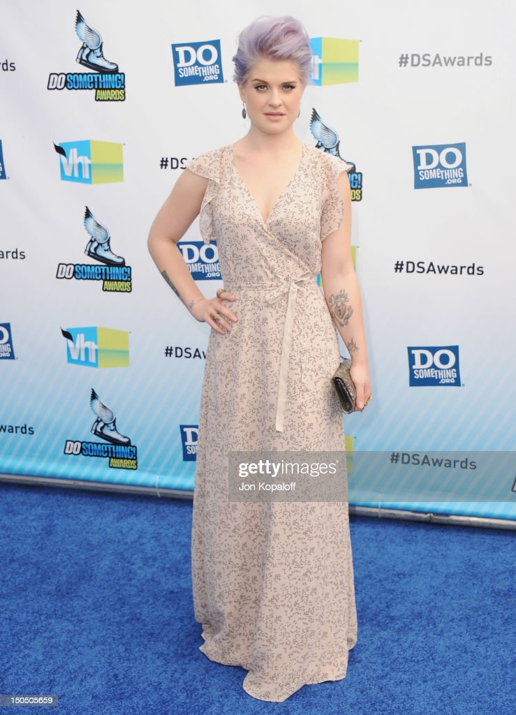 TV personality Kelly Osbourne arrives at the DoSomethingorg And VH1's 2012 Do Something Awards at the Barker Hangar on August 19 2012 in Santa Monica...