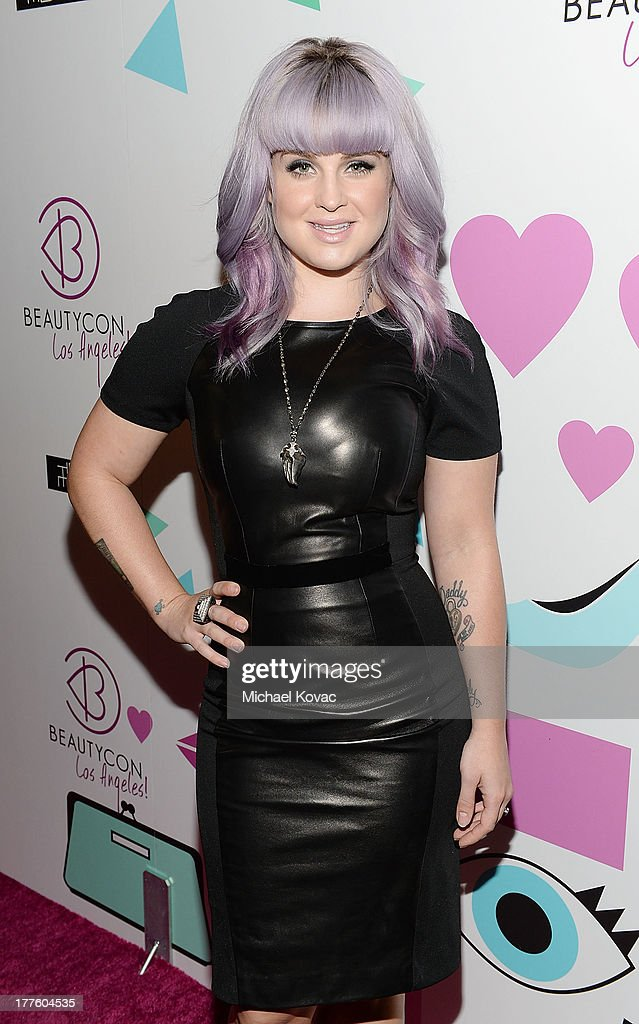 TV personality Kelly Osbourne attends BeautyCon LA, a fashion and beauty summit for the top digital influences online at Siren Studios on August 24, 2013 in Hollywood, California.