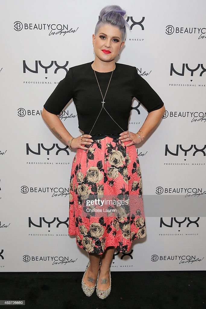 TV personality Kelly Osbourne attends BeautyCon LA talent lounge sponsored by NYX Cosmetics at LA Mart at The Reef on August 16 2014 in Los Angeles...