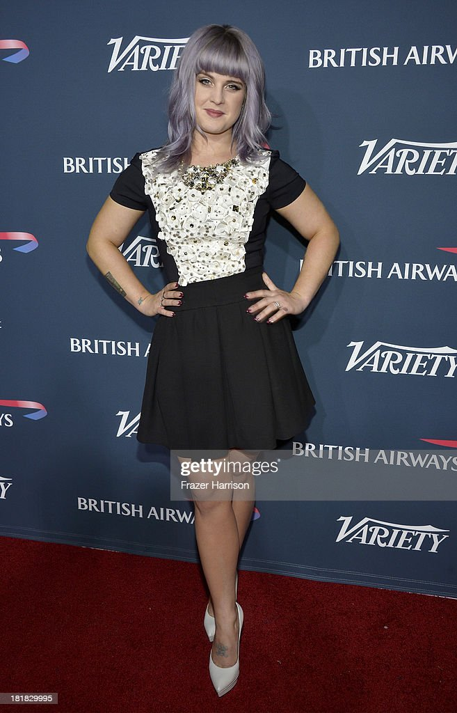 TV personality <a gi-track='captionPersonalityLinkClicked' href=/galleries/search?phrase=Kelly+Osbourne&family=editorial&specificpeople=156416 ng-click='$event.stopPropagation()'>Kelly Osbourne</a> attends British Airways and Variety Celebrate The Inaugural A380 Service Direct from Los Angeles to London and Discover Variety's 10 Brits to Watch on September 25, 2013 in Los Angeles, California.