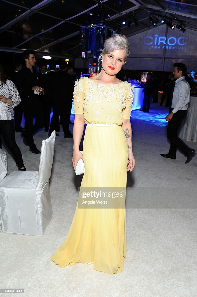 TV personality Kelly Osbourne attends CIROC Vodka at 20th Annual Elton John AIDS Foundation Academy Awards Viewing Party at The City of West Hollywood Park on February 26, 2012 in Beverly Hills, California.