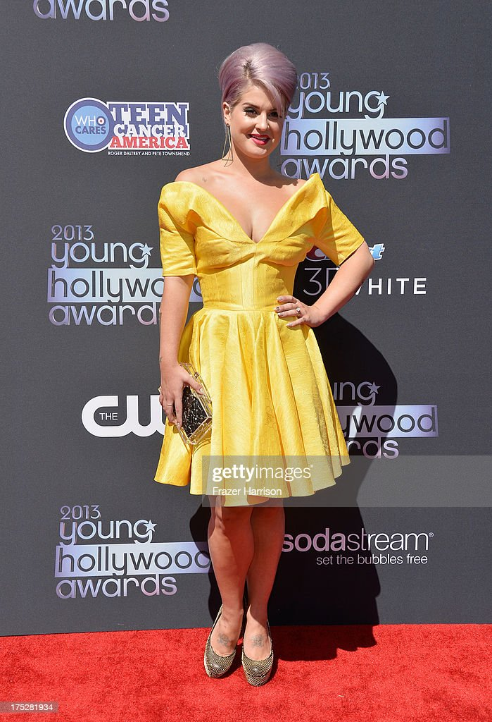 TV personality <a gi-track='captionPersonalityLinkClicked' href=/galleries/search?phrase=Kelly+Osbourne&family=editorial&specificpeople=156416 ng-click='$event.stopPropagation()'>Kelly Osbourne</a> attends CW Network's 2013 Young Hollywood Awards presented by Crest 3D White and SodaStream held at The Broad Stage on August 1, 2013 in Santa Monica, California.