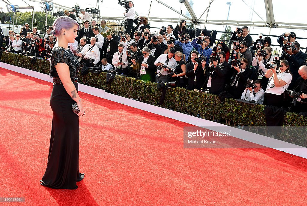 Personality Kelly Osbourne attends the 19th Annual Screen Actors Guild Awards at The Shrine Auditorium on January 27, 2013 in Los Angeles, California. (Photo by Michael Kovac/WireImage) 23116_026_0291.JPG