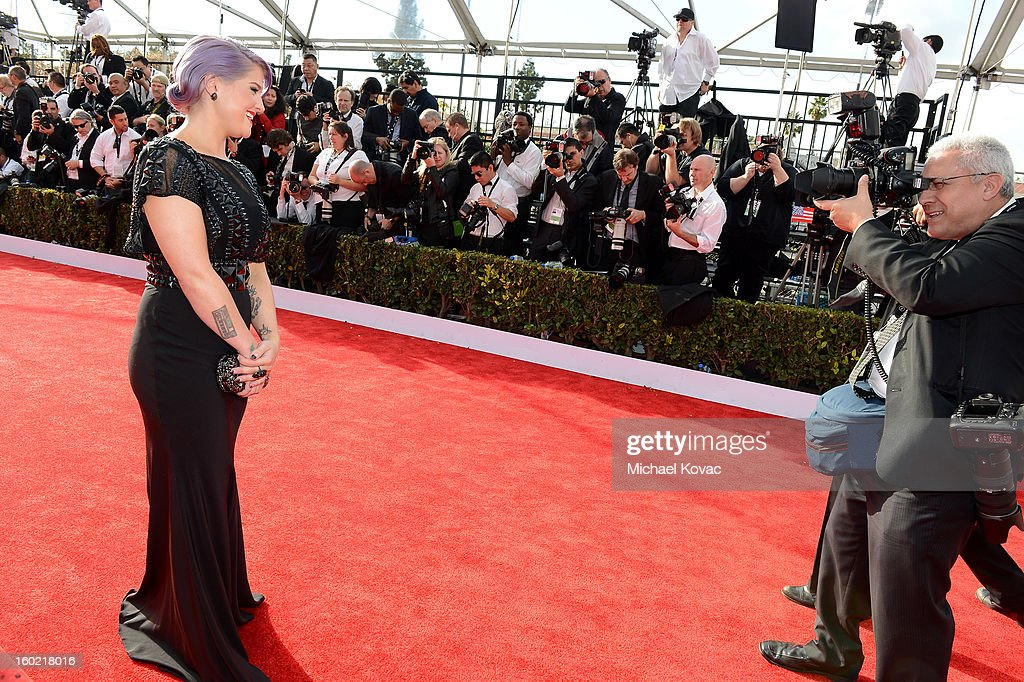 Personality Kelly Osbourne attends the 19th Annual Screen Actors Guild Awards at The Shrine Auditorium on January 27, 2013 in Los Angeles, California. (Photo by Michael Kovac/WireImage) 23116_026_0298.JPG