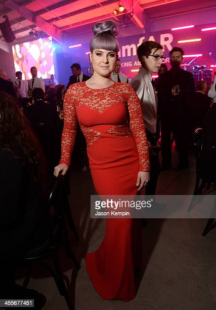 TV personality Kelly Osbourne attends the 2013 amfAR Inspiration Gala Los Angeles at Milk Studios on December 12 2013 in Los Angeles California