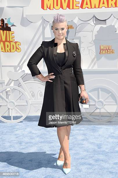 TV personality Kelly Osbourne attends The 2015 MTV Movie Awards at Nokia Theatre LA Live on April 12 2015 in Los Angeles California