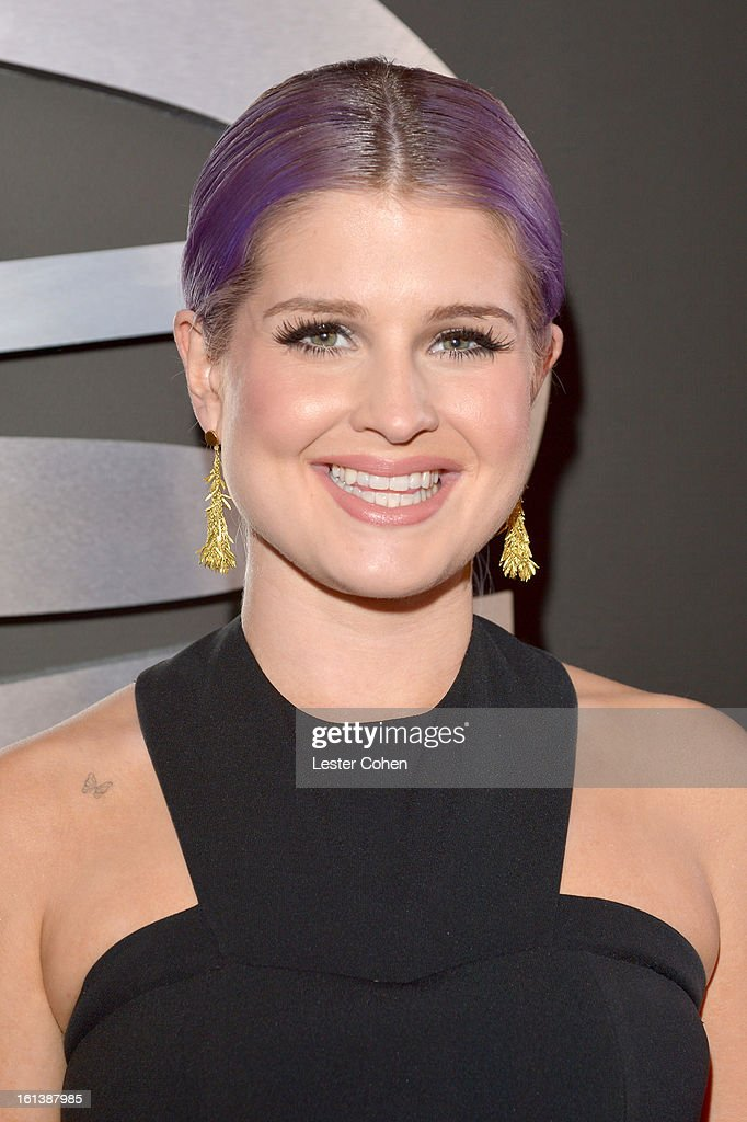 TV personality Kelly Osbourne attends the 55th Annual GRAMMY Awards at STAPLES Center on February 10, 2013 in Los Angeles, California.