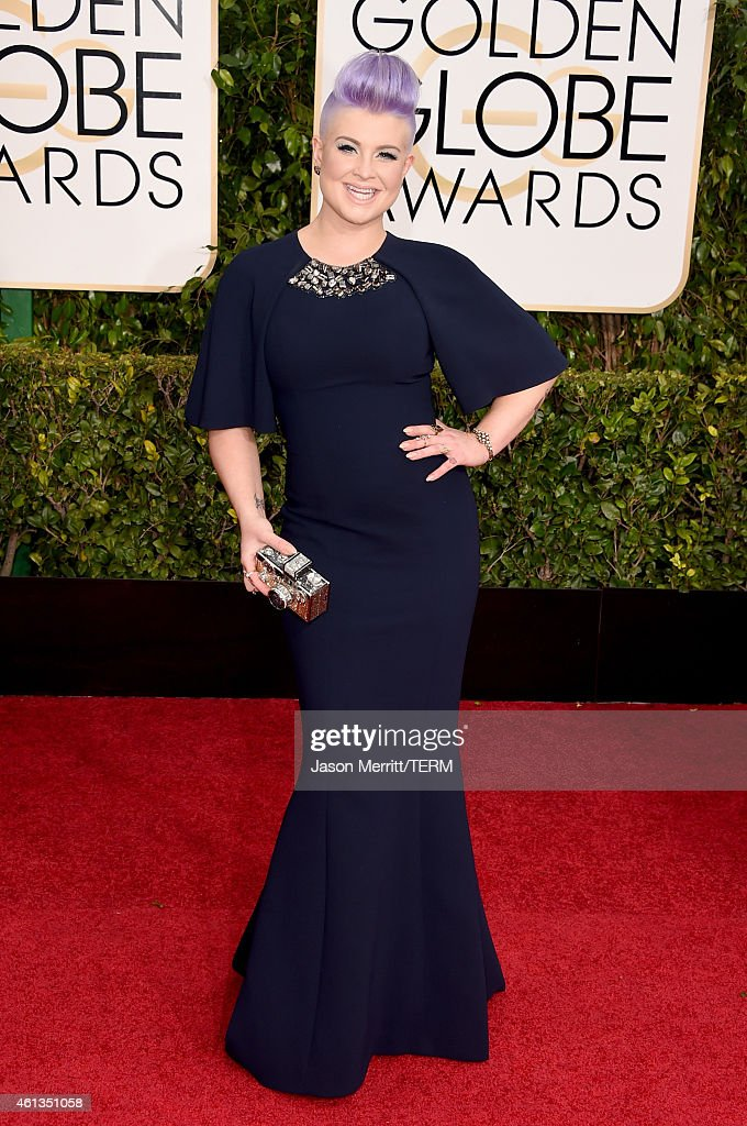 Personality Kelly Osbourne attends the 72nd Annual Golden Globe Awards at The Beverly Hilton Hotel on January 11 2015 in Beverly Hills California