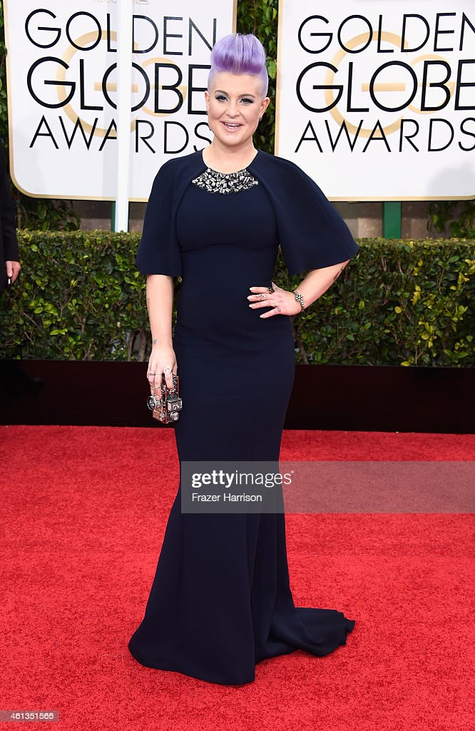 TV personality Kelly Osbourne attends the 72nd Annual Golden Globe Awards at The Beverly Hilton Hotel on January 11 2015 in Beverly Hills California