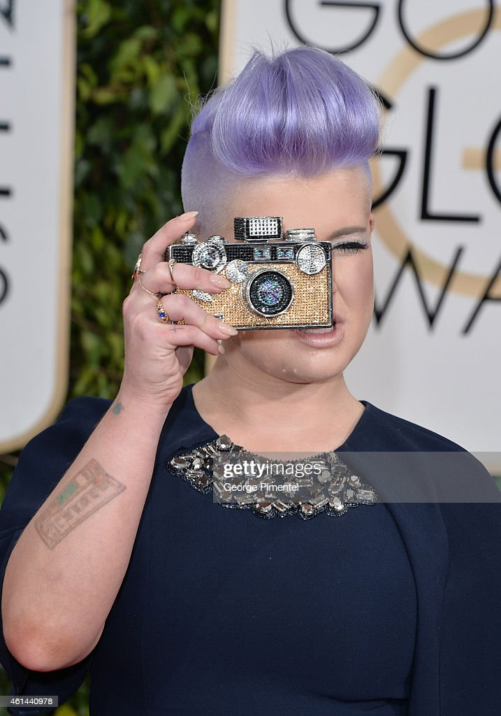 TV personality Kelly Osbourne attends the 72nd Annual Golden Globe Awards at The Beverly Hilton Hotel on January 11, 2015 in Beverly Hills, California.