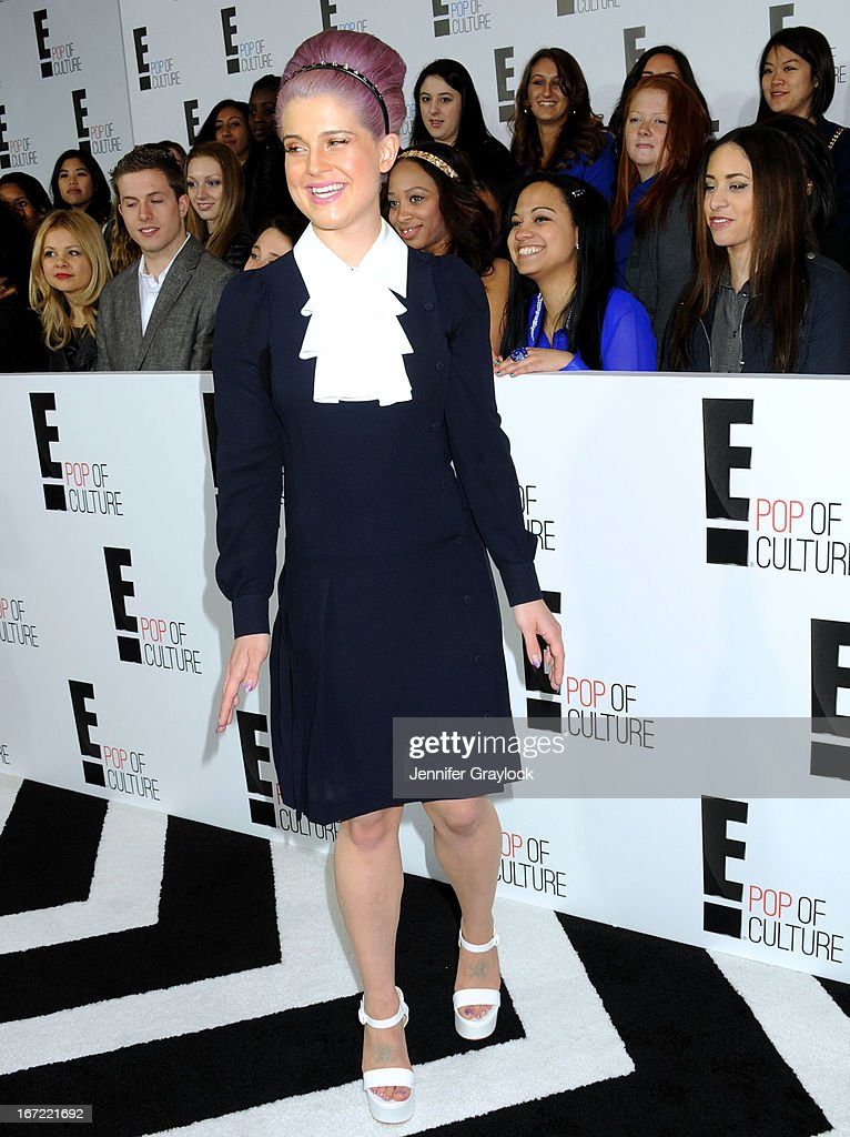 TV personality Kelly Osbourne attends the E! 2013 Upfront at The Grand Ballroom at Manhattan Center on April 22, 2013 in New York City.