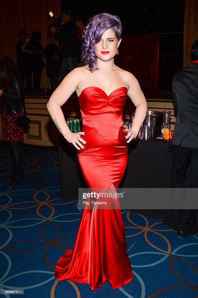 TV personality Kelly Osbourne attends The Heart Truth's Red Dress Collection Fall 2013 Mercedes-Benz Fashion Show at 499 Seventh Avenue on February 6, 2013 in New York City.
