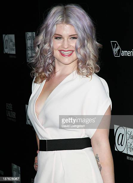TV personality Kelly Osbourne attends the LA Gay Lesbian Center's 'An Evening' benefiting homeless youth services at Sunset Tower on January 23 2012...