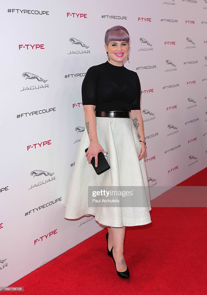 TV Personality Kelly Osbourne attends the launch party for the Jaguar F-TYPE Coupe at Raleigh Studios on November 19, 2013 in Playa Vista, California.