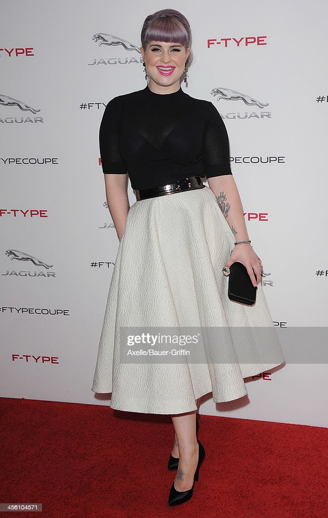 TV Personality <a gi-track='captionPersonalityLinkClicked' href=/galleries/search?phrase=Kelly+Osbourne&family=editorial&specificpeople=156416 ng-click='$event.stopPropagation()'>Kelly Osbourne</a> attends the launch party for the Jaguar F-TYPE Coupe at Raleigh Studios on November 19, 2013 in Playa Vista, California.