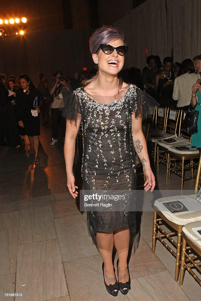 TV personality Kelly Osbourne attends the Marchesa show during Spring 2013 Mercedes-Benz Fashion Week at Grand Central Terminal on September 12, 2012 in New York City.