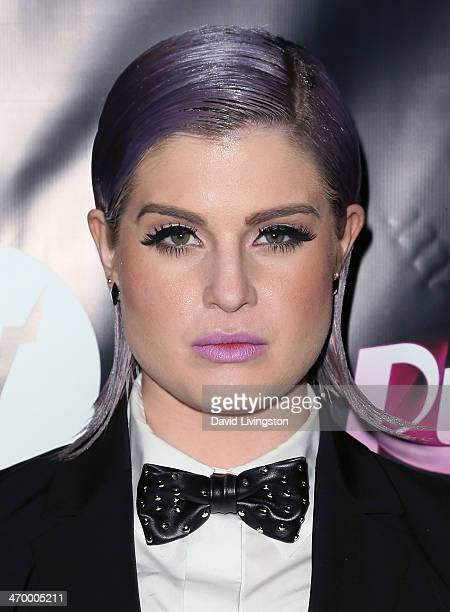TV personality Kelly Osbourne attends the 'RuPaul's Drag Race' Season 6 premiere party at The Roosevelt Hotel on February 17 2014 in Hollywood...