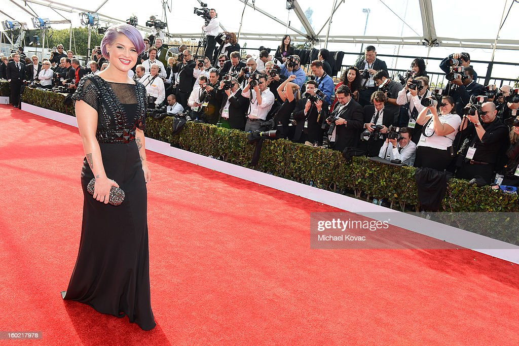 Personality Kelly Osbourne attends the the 19th Annual Screen Actors Guild Awards at The Shrine Auditorium on January 27, 2013 in Los Angeles, California. (Photo by Michael Kovac/WireImage) 23116_026_0293.JPG