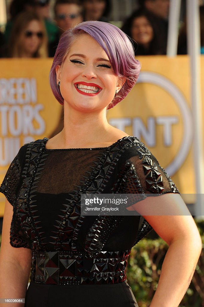 TV personality Kelly Osbourne during the 19th Annual Screen Actors Guild Awards held at The Shrine Auditorium on January 27, 2013 in Los Angeles, California.