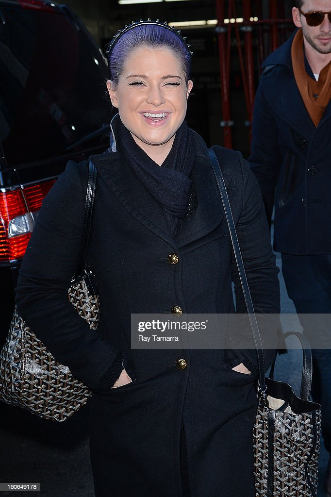 TV personality Kelly Osbourne enters the 'Wendy Williams Show' taping at the Chelsea Television Studios on February 4, 2013 in New York City.