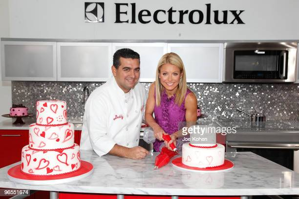 TV personality Kelly Ripa and chef Buddy Valastro attend Kelly's Cake Off For a Cause at Chelsea Market on February 9 2010 in New York City