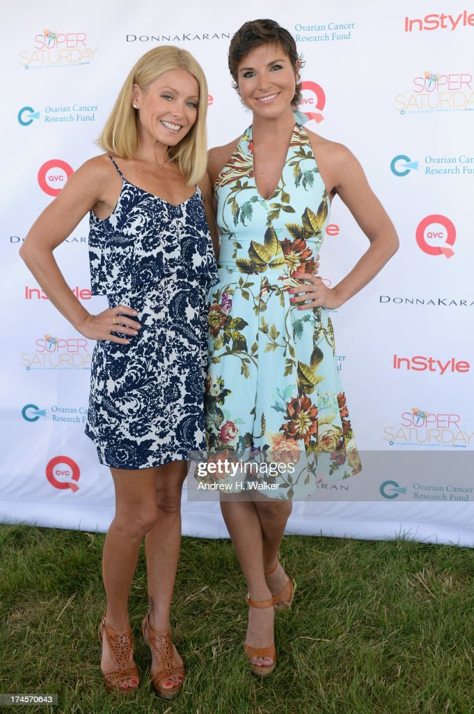 TV Personality Kelly Ripa and Diem Brown attend the Ovarian Cancer Research Fund's 16th Annual Super Saturday hosted by Kelly Ripa and Donna Karan at Nova's Ark Project on July 27, 2013 in Water Mill, NY.