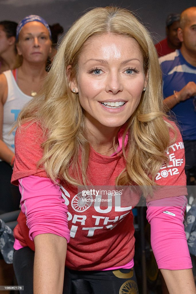 TV personality Kelly Ripa attends SoulCycle's Soul Relief Rides at SoulCycle Tribeca on November 11, 2012 in New York City.