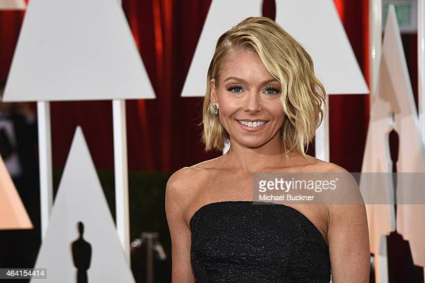 TV personality Kelly Ripa attends the 87th Annual Academy Awards at Hollywood Highland Center on February 22 2015 in Hollywood California