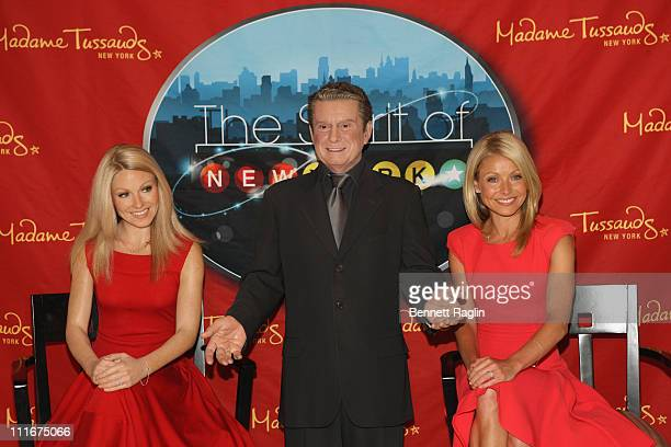 TV personality Kelly Ripa attends the unveiling of her wax figure at Madame Tussauds New York at Madame Tussauds on April 5 2011 in New York City