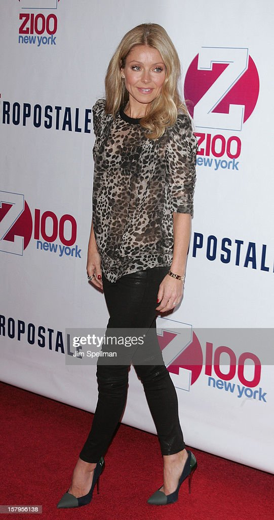TV Personality Kelly Ripa attends Z100's Jingle Ball 2012, presented by Aeropostale, at Madison Square Garden on December 7, 2012 in New York City.
