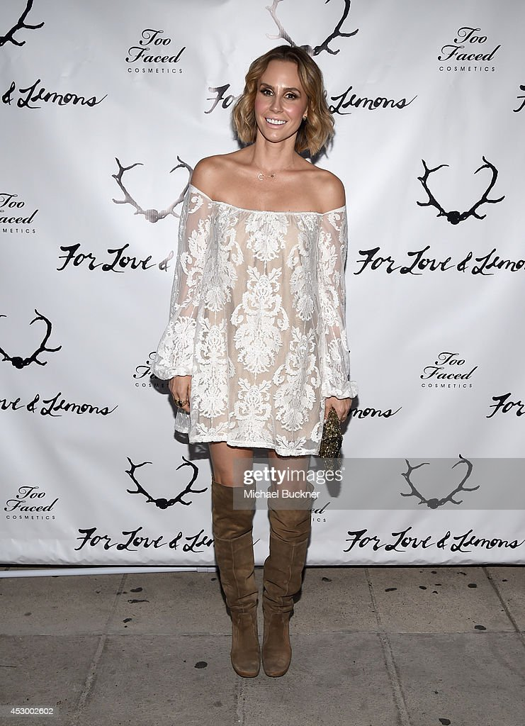 TV personality Keltie Knight attends For Love and Lemons annual SKIVVIES party cohosted by Too Faced and performance by The Shoe at The Carondelet...