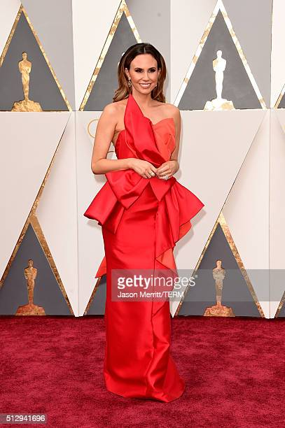 TV personality Keltie Knight attends the 88th Annual Academy Awards at Hollywood Highland Center on February 28 2016 in Hollywood California