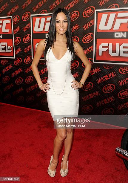 TV personality Kenda Perez attends UFC on Fox Live Heavyweight Championship at the Honda Center on November 12 2011 in Anaheim California
