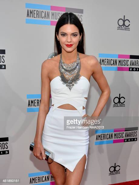 TV personality Kendall Jenner attends 2013 American Music Awards at Nokia Theatre LA Live on November 24 2013 in Los Angeles California