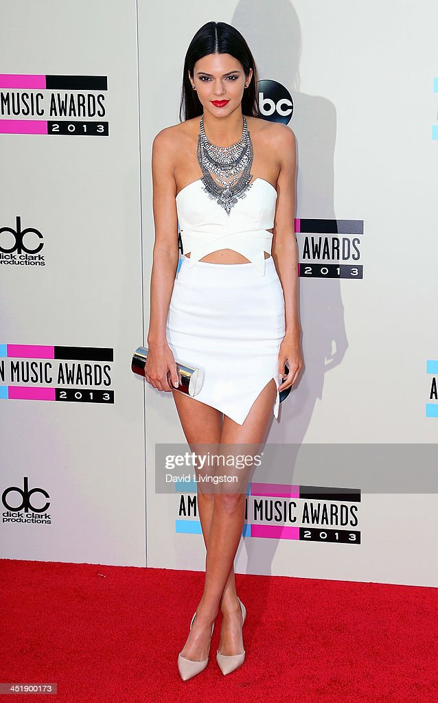 TV personality Kendall Jenner attends the 2013 American Music Awards at Nokia Theatre L.A. Live on November 24, 2013 in Los Angeles, California.