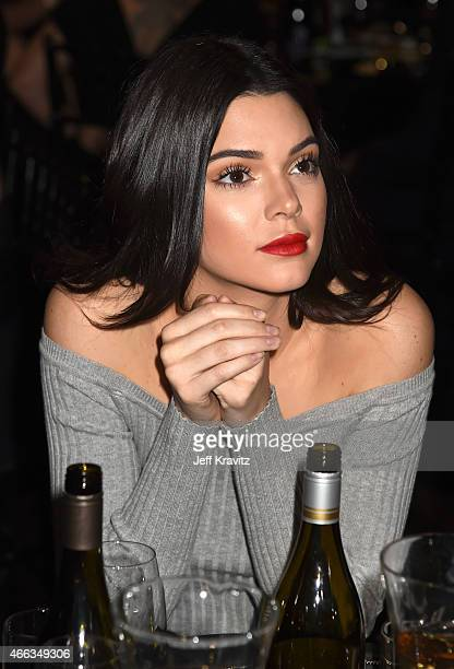 TV personality Kendall Jenner attends The Comedy Central Roast of Justin Bieber at Sony Pictures Studios on March 14 2015 in Los Angeles California...